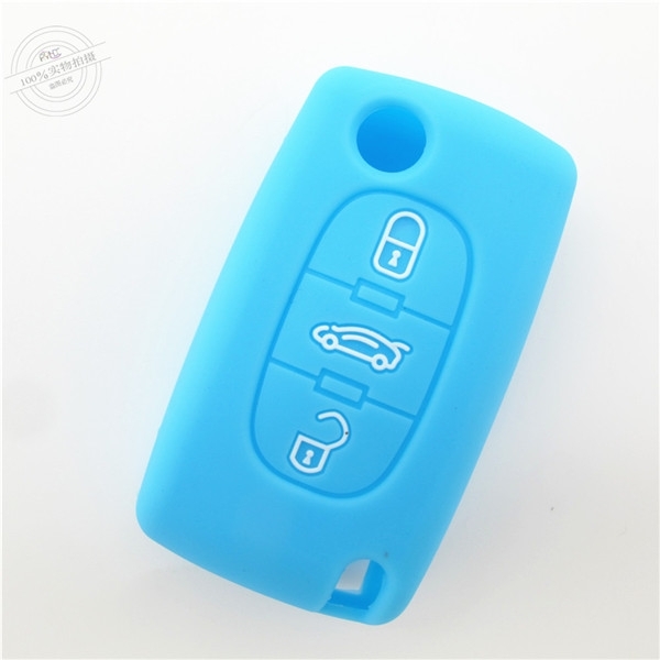 Peogeot 407 key fob covers|cases|protectors|skins without logo for  Peogeot 307|308|408,3 buttons,a variety of colors,completely natural silicone.