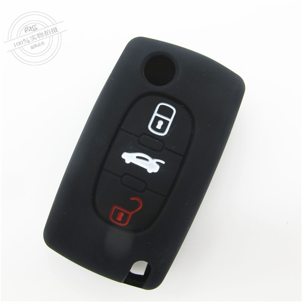 Peogeot 308 car key covers|cases|protectors|skins without logo for Peogeot 307|407|408,3 buttons,a variety of colors,completely natural silicone.