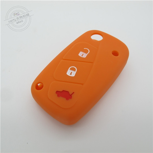 Fiat car key covers, colorful silicone key remote cover,environmental protection silicone products, waterproof car key bag for Fiat