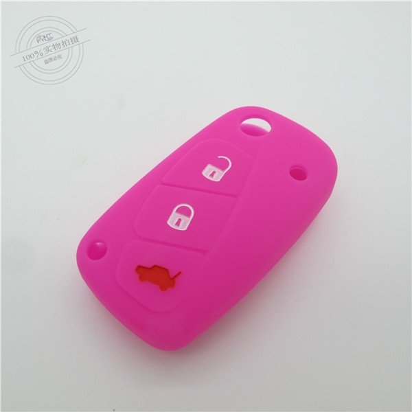 Fiat car key covers, silicone car key protector,waterproof car key case, colorful remote car key casing