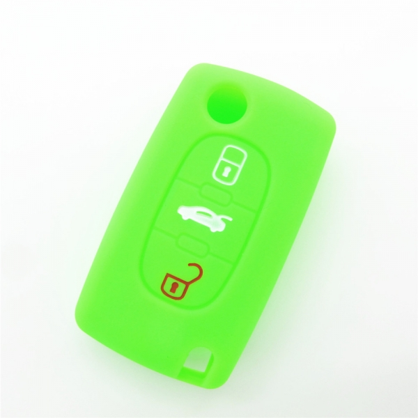 Citroen car key covers, colorful silicone key accessories, newest silicone key protector