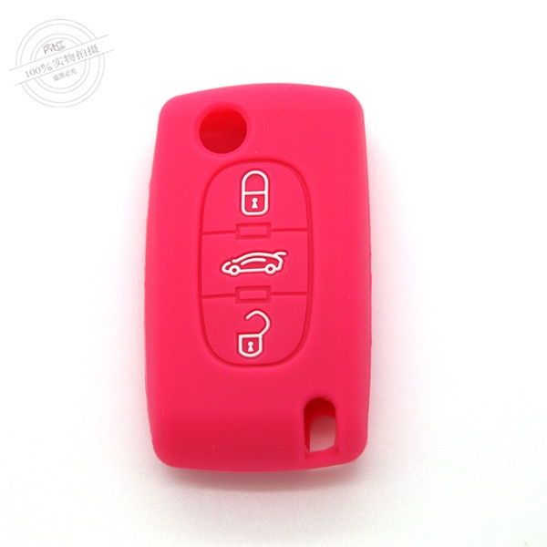 Citroen car key covers, multi-colors silicone car key case, hot sale car key casing for Citroen