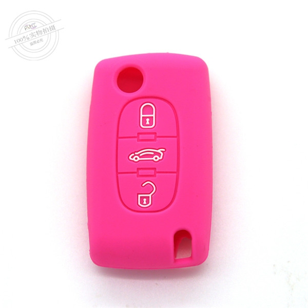 Citroen car key covers, waterproof silicone key protector for car, remote control key covers