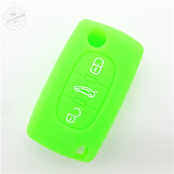 Peugeot car key covers, silicone car key case for Peugeot, hot sale silicone car key protector
