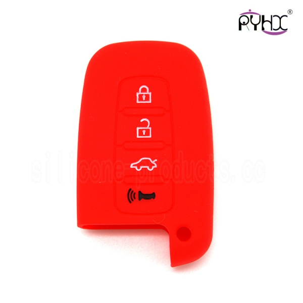 Hyundai silicone key shuck,hot sale silicone car key protector, the most popular multi-function car key silicone pouch