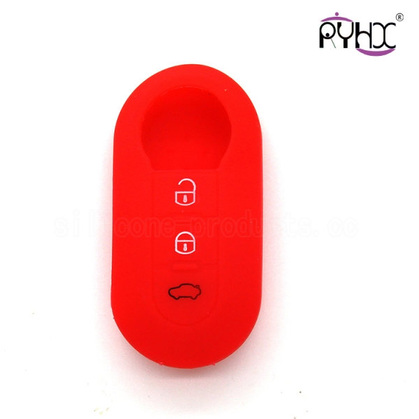 Fiat car key silicone shell, flexible auto key silicone protector, the best quality key silicone case
