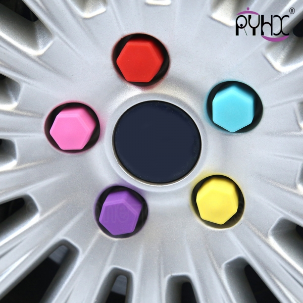 colorful silicone car hub cap,hot sale silicone car nut cover, the cheapest silicone nut cap for car