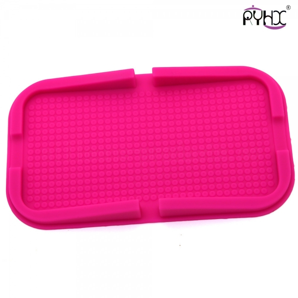 anti-slip silicone mat, silicone slide-proof mat, telephone non-slip mat