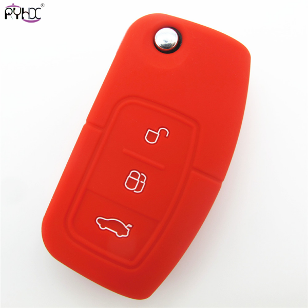 Online wholesale red 2012 Ford Focus key cover,3 button.