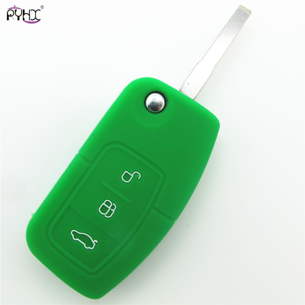 Online wholesale green 2012 Ford Focus key fob cover,3 button.