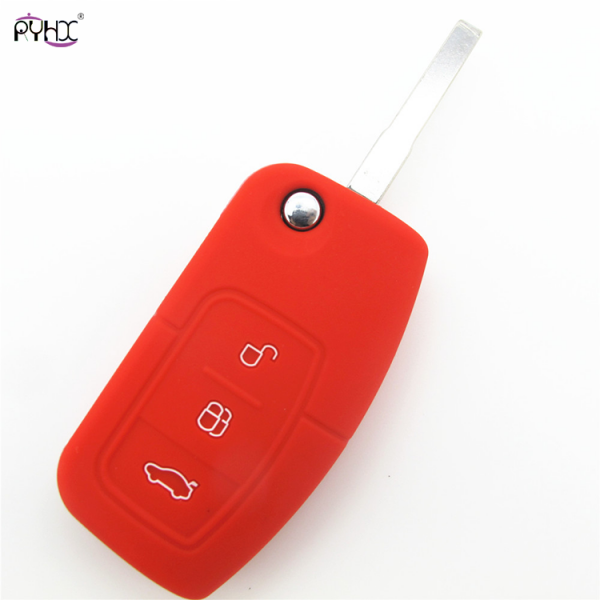 Online wholesale red 2012 Ford Focus key fob cover,3 button.