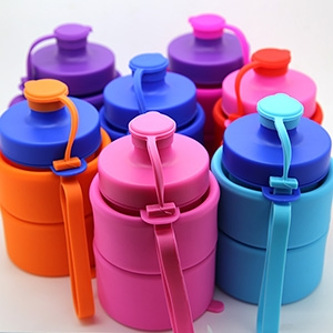 WHOLESALE collapsible water bottles,BPA Free,soft silicoone and rubber
