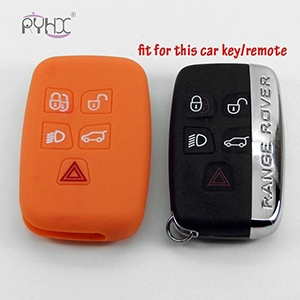 LandRover LR4 LR3 Range Rover Discovery Sport silicone rubber key fob covers cases protector( 5 Buttons).
