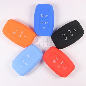 Wholesale silicone ​car key remote covers for  5 Buttons LandRover Discovery4 RangeRover.
