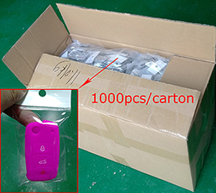 the package of Silicone car key shuck for Audi B7