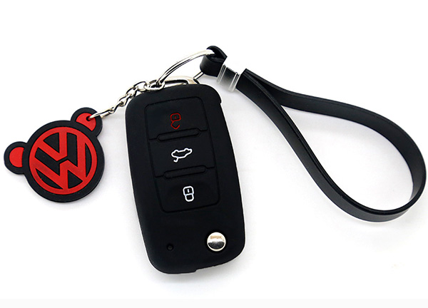 black vw key cover
