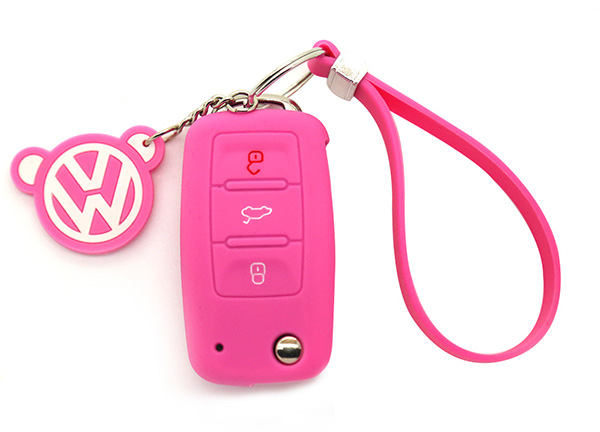 pink vw key cover