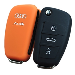 Silicone car key sleeve for Audi A1
